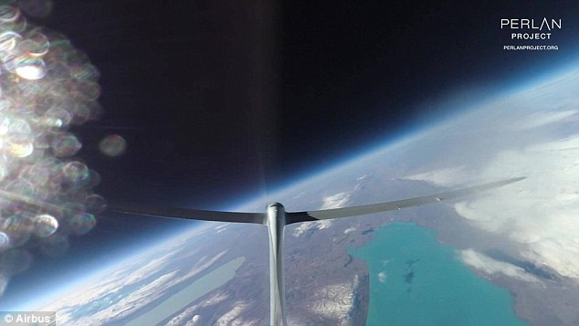Fellow pilot Jim Payne says as the aircraft flies ever-higher, the views become more surreal, and the horizon begins to curve