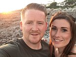 Chris West, pictured with his wife Becky, was murdered after a row over a game of pool