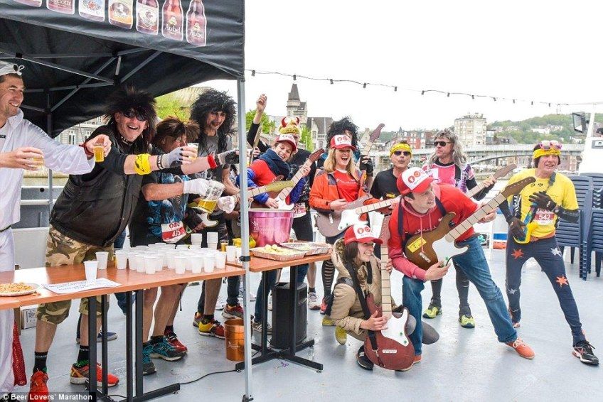 The next race takes place in the city of Liege on June 9, 2019, and runners are encouraged to wear fancy dress