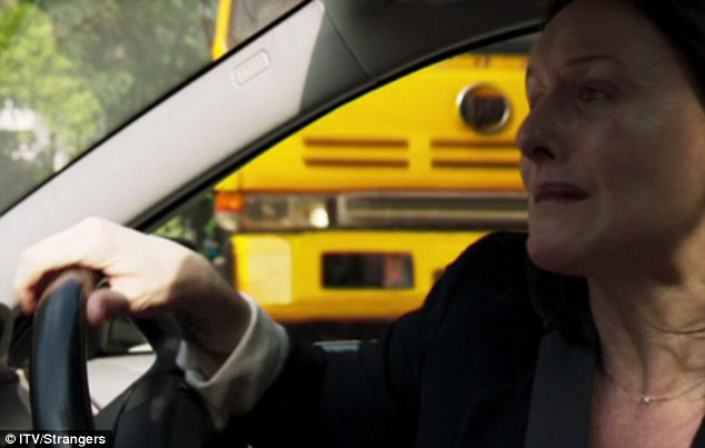 In tears after leaving an emotional voicemail for her husband in London, Megan reversed and placed herself in the path of a oncoming speeding lorry in the dramatic opening scenes. It was revealed at the end of the episode that the voicemail captured crucial information