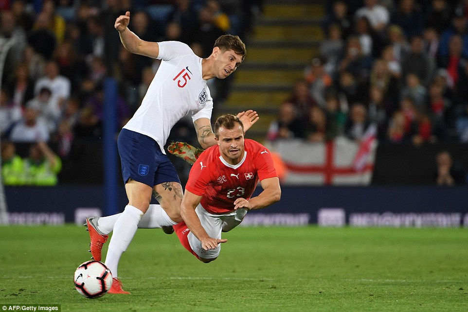 Switzerland's main man Xherdran Shaqiri (right) endured a difficult night in the East Midlands as his side were beaten 1-0