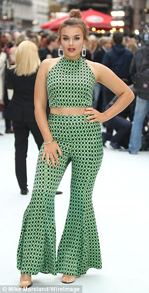 Flawless: She was joined by singer Tallia Storm, who flashed her abs in green printed co-ords