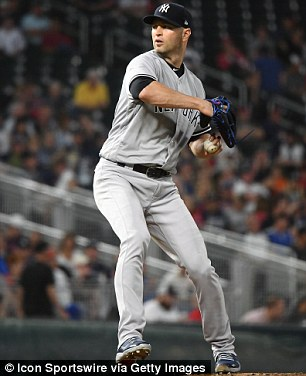 Last month, New York Yankees starting pitcher JA Happ (pictured, September 10) contracted a 'mild' version of the virus although it's unclear how