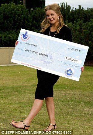 Miss Park is pictured here in 2012 with her winner check before her cosmetic surgery