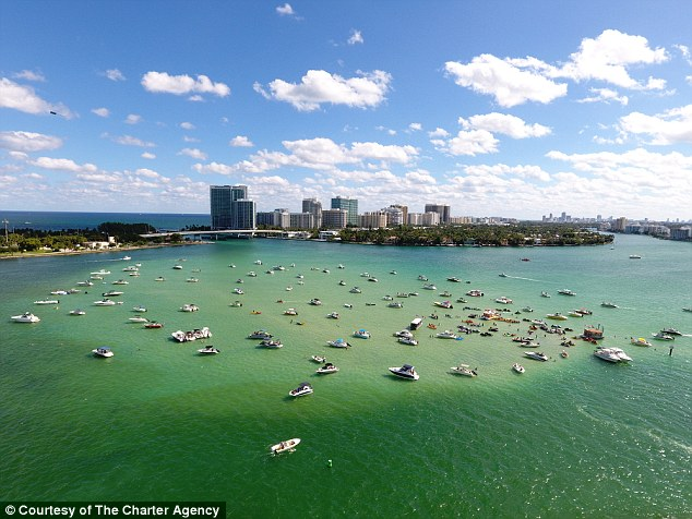 The party capital of Florida, Miami, is another popular spot for sandbar events.For those who don't have a boat, there are plenty of companies offering sandbar party excursions including Yacht Charters in Miami and The Charter Agency