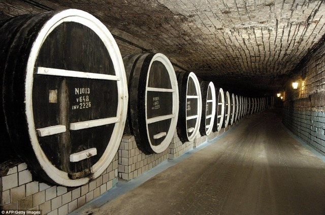 The Milestii Mici cellar is so expansive that guests can drive around it in a car or explore on a bike
