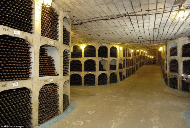 The Milestii Mici winery in Moldova has a staggering 1.5million bottles in its wine collection – a Guinness World Record – and they're stored in a cellar that stretches for an incredible 150 miles