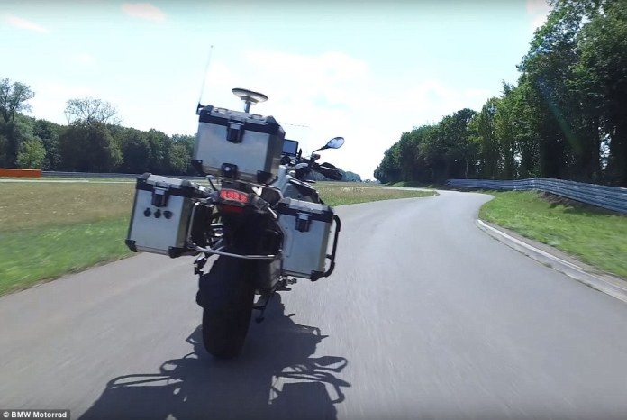 The vehicle is powered by intelligent software that can turn, accelerate, lean around corners and brake with no human input. BMW hopes the AI can one day keep bikers safe by operating as a driving assistant