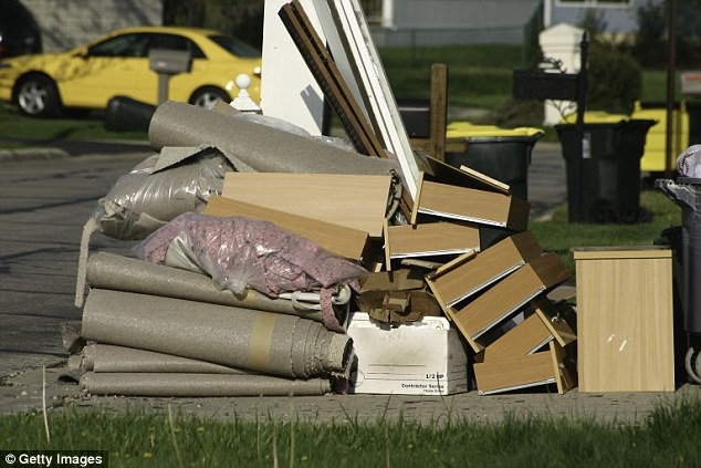 Every year, many Australians leave furniture and whitegoods for council pick up (stock image)