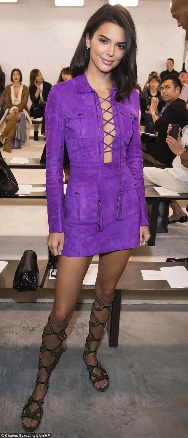 Previously: Kendall was seen at Longchamp's show during New York Fashion Week on September 8