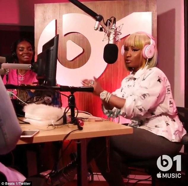Shock: The former Red Lobster waitress complained on Beats 1's Queen Radio: 'I was wearing [an Alexandre] Vauthier gown off the mother f***ing runway and I could not believe how humiliating it all felt - how we made ourselves look'