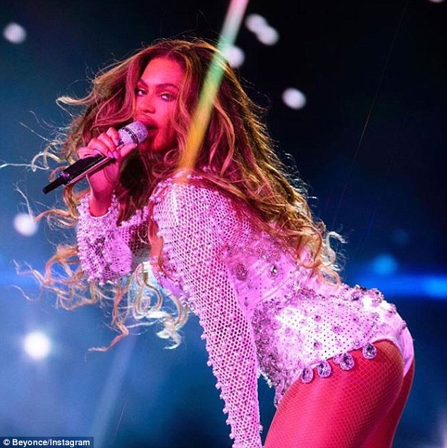 Business as usual: Meanwhile, the Crazy In Love performer was back in her hometown of Houston, Texas, Wednesday night with husband Jay-Z on their On The Run II Tour
