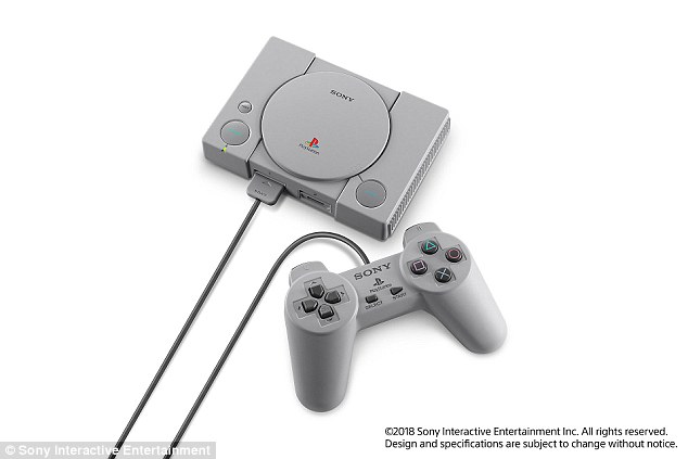 The  PlayStation One Classic is almost half the size of Sony's original 1994 console