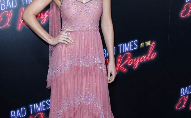 Dakota Johnson Looks Ethereal In Delicate Pink Gown At Bad