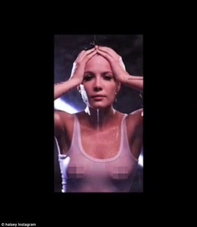 Halsey Goes Braless As She Teases New Single Without Me In