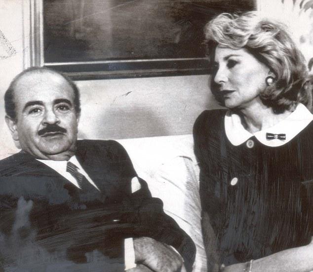 Adnan Khashoggi with American TV correspondent Barbara Walters in the 1980s