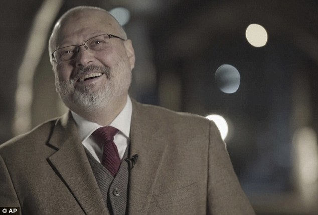 Khashoggi (pictured) went missing after entering the Saudi consulate building in Istanbul on October 2