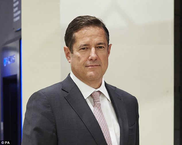 Support: Nigel Higgins should be a support for Barclays boss Jes Staley (pictured)