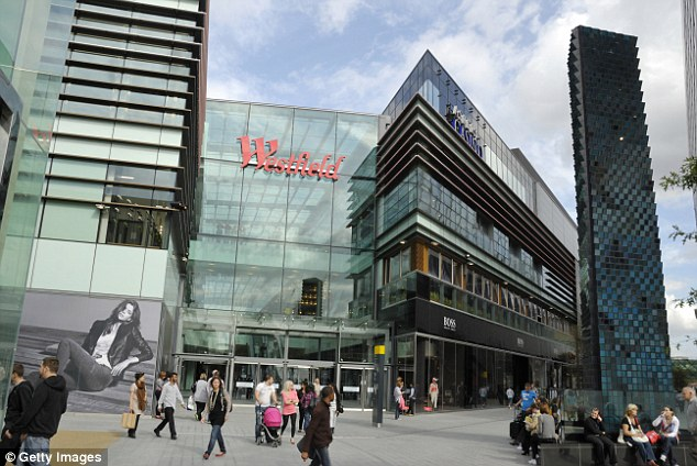 Prosperity: Westfield ranked number one last month in the top 50 UK shopping malls, but is located in West London