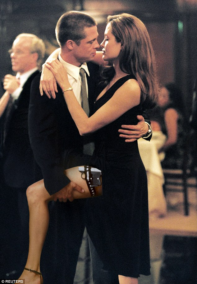 Tension: Brad and Angelina met on very sexy 2005 movie, Mr And Mrs Smith