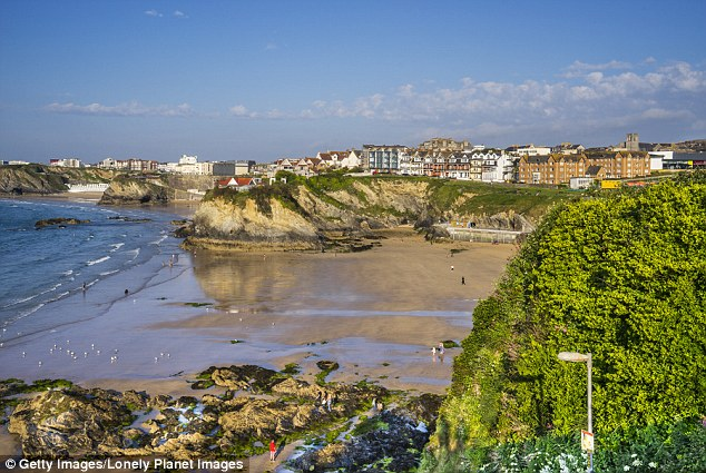 Surf and Slurp: The views over Towan beach, Newquay, where The Oyster Lady holds her classes