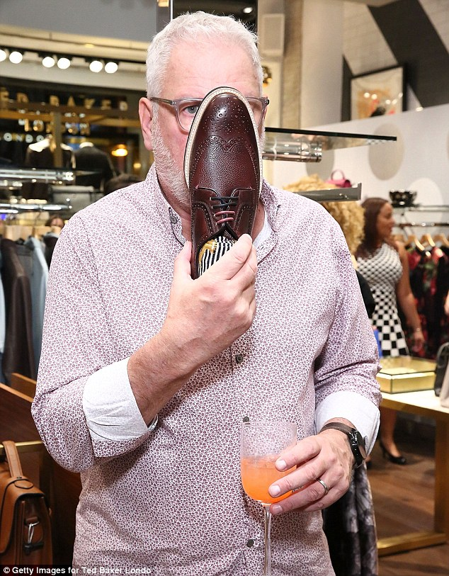 The head and founder of Ted Baker, Ray Kelvin (above), refuses to show his face in official photographs