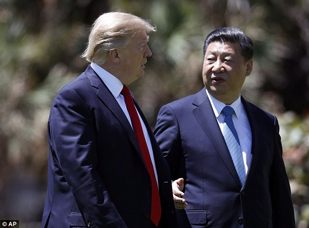 President  Trump and Chinese President Xi Jinping meet at Mar-a-Lago in Florida.