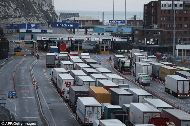 Preparations for a no-deal Brexit have come under fresh scrutiny after a ferry contract was awarded to a company with no ships. Pictured: lorries queuing at Dover in March this year