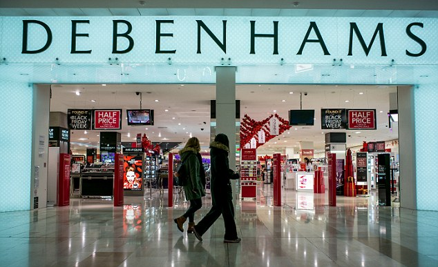 Debenhams saw sales slide 3.6 per cent over the all-important Christmas period.