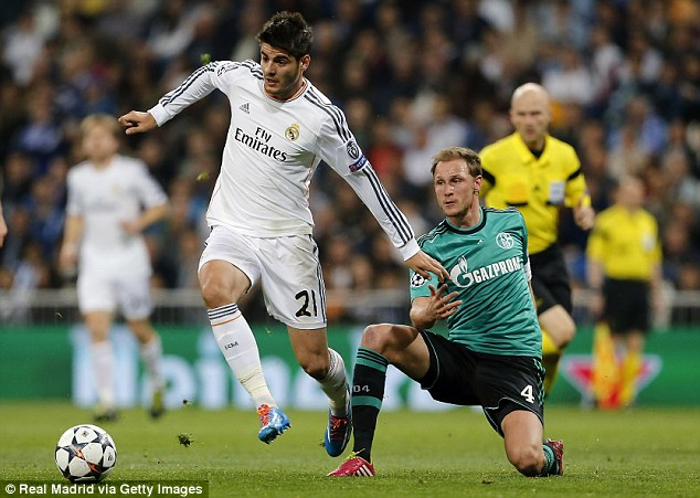 Morata can also operate as a second striker or wide, as he did at Real Madrid