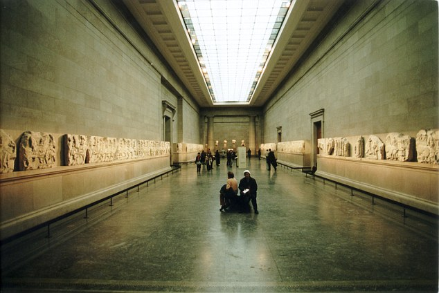 The Elgin Parthenon Marbles at The British Museum where they've been since the 18th century