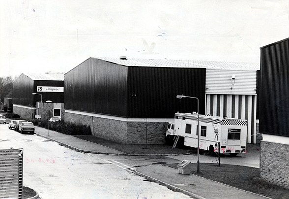 Reader was involved in the raid on the Brinks Mat warehouse (pictured at the time) near Heathrow Airport in 1983, in which £26million worth of gold bullion was stolen