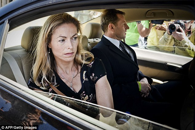 Madeleine's parents Kate and Gerry McCann, both now 51, leave a court in Lisbon after giving statements in their case against Portuguese police officer Goncalo Amaral in July 2014
