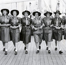 Picture of Girl Guides from the early 20th Century