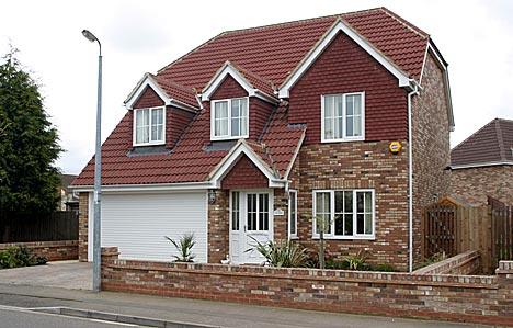 imagen de una casa típica de Inglaterra