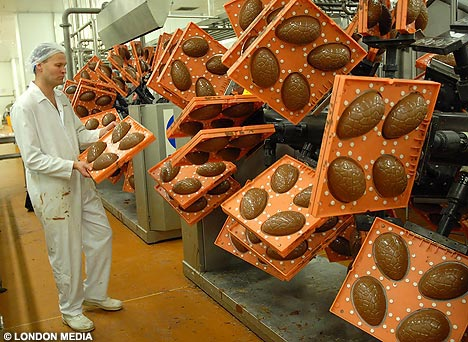 The Wider View Inside the Egg room at a chocolate factory