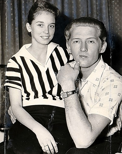 Rocker Jerry Lee lewis and his 13 year-old child bride...this caused his downfall