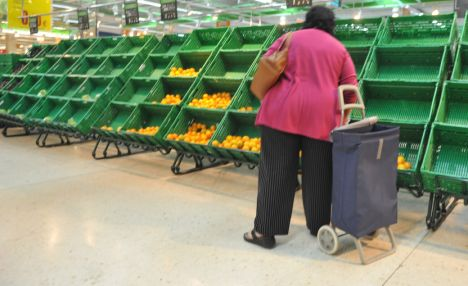 Spain food shortages