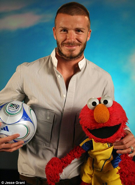 David Beckham on Sesame Street