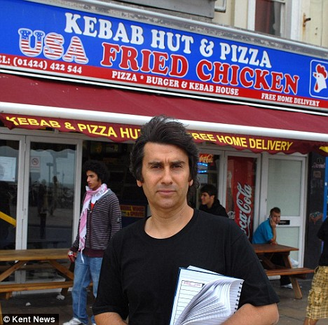 Remzi Tanriverdi owns the kebab shop outside which Mohammed was beaten and left for dead