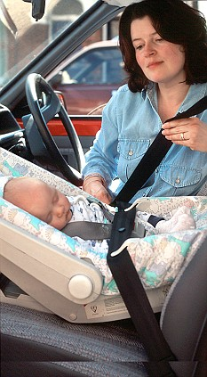 Keeping babies in car seats at home could harm a childs