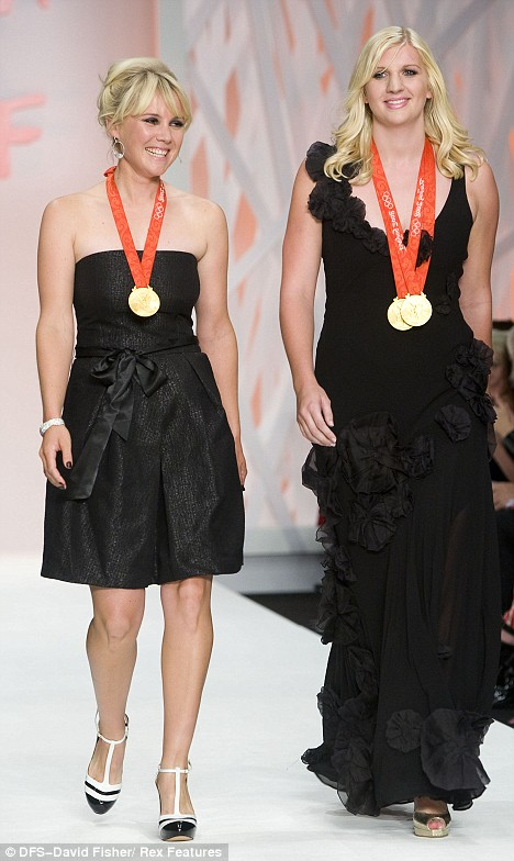 Rebecca Adlington and her two gold medals