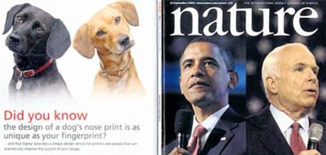The latest issue of Nature ... front and back