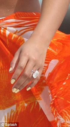 Beyonces wedding bling  an 18carat diamond with a 25m