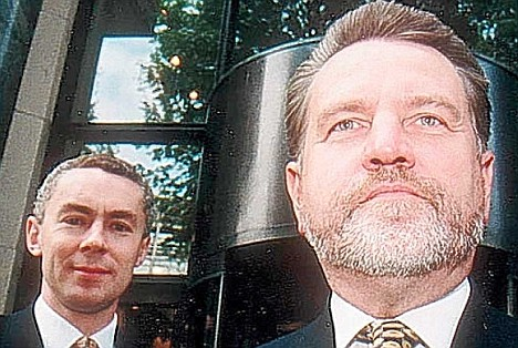 Controversial: Capita chief Paul Pindar, left, and his predecessor Rod Aldridge, who had to quit