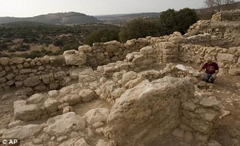 Yossi Garfinkel is seen at the excavation site