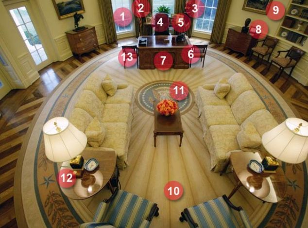 Inside Obamas Oval Office The plush furnishings awaiting