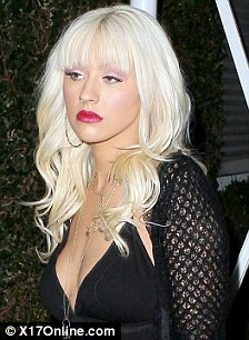 Christina Aguilera all dressed up in black leaves the Fred Segal store in Hollywood after shopping..Nov 13, 2008
