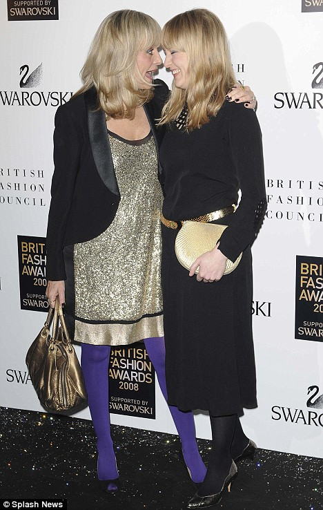 Family values: Twiggy Lawson and her daughter