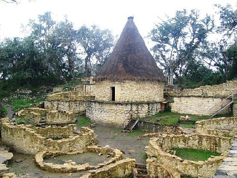 An ancient Chachapoyas village located close to the area where the lost city was found
